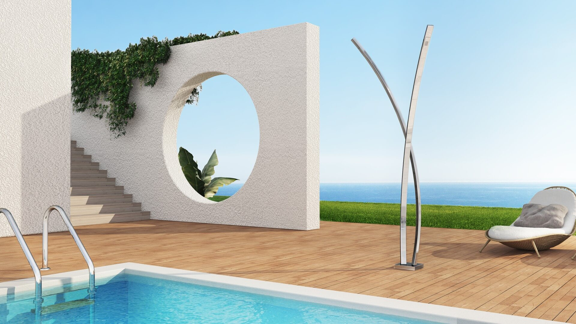 Bild Außendusche, Pool, Garten - Preludio Inoxstyle