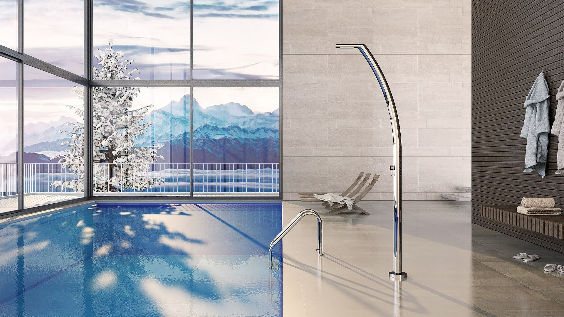 Picture Outdoor shower, pool, garden - Yacht Inoxstyle