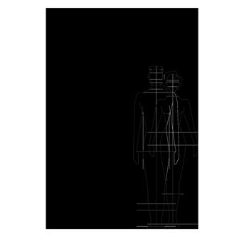Dessin technique douche extérieure, piscine, jardin - Aria Cylinder Inoxstyle