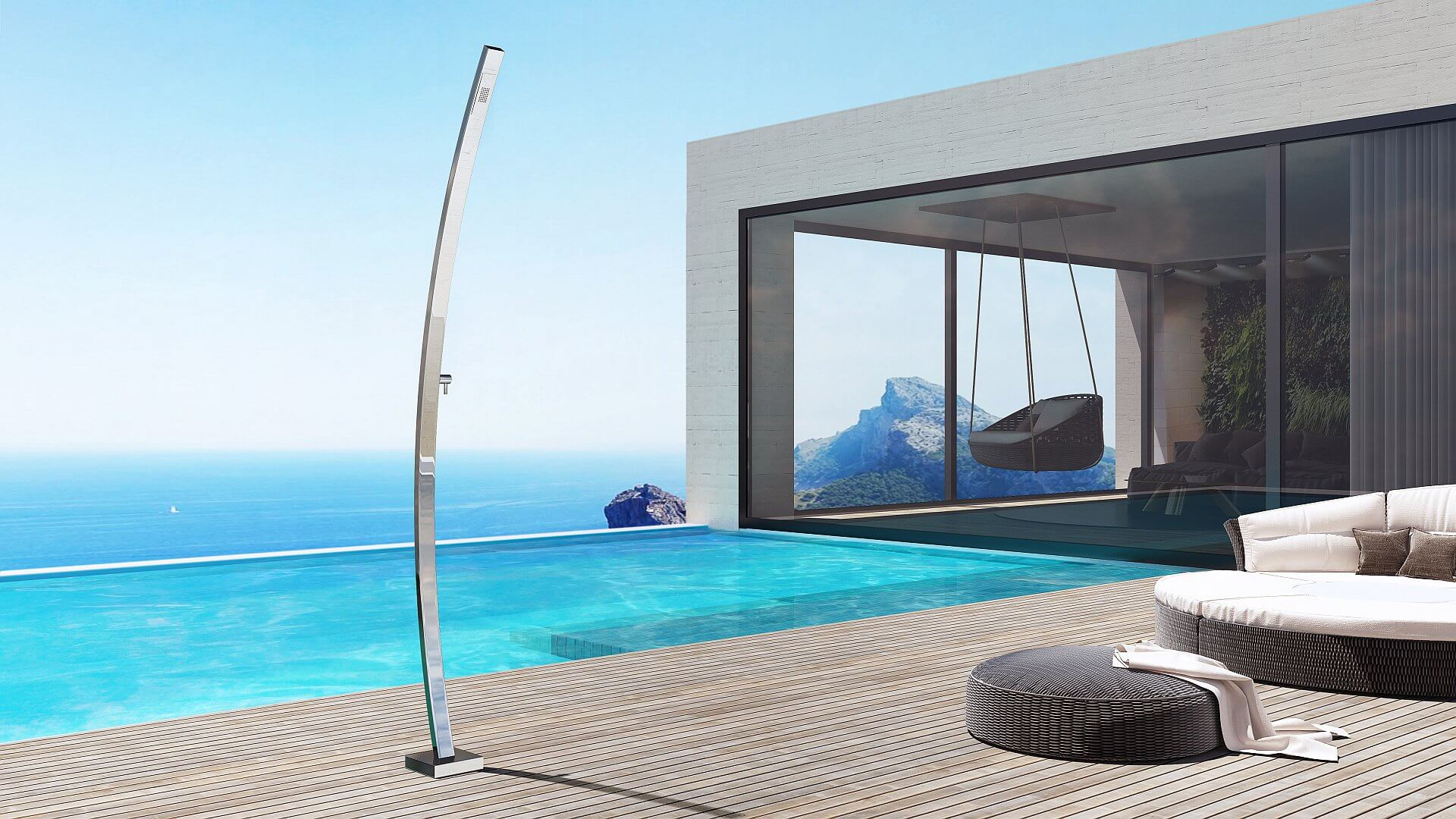 Motivo R - Nautical outdoor shower, a top design shower for outdoor made with luxury