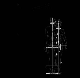 Dibujo técnico ducha al aire libre, piscina, jardín - RIVA Inoxstyle