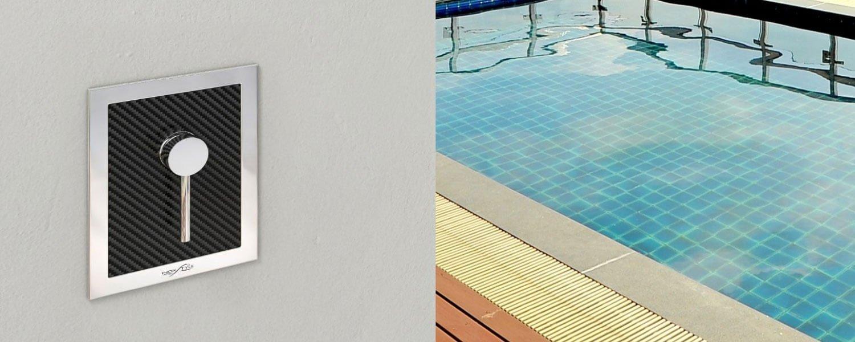 Immagine doccia per esterno, per piscina, per giardino - MIXER CARBON Inoxstyle